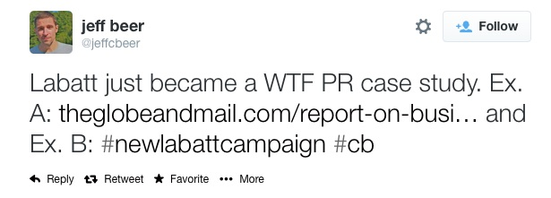 tweet 1 - how not to respond when an evil celebrity promotes your product