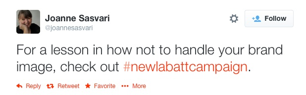 tweet 3 - how not to respond when an evil celebrity promotes your product